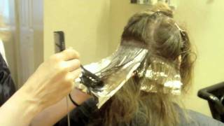 Two Tone Hair Color: Blonde on Brown: Hair Tutorial