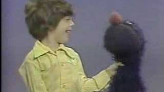 Classic Sesame Street - Grover and Chris with STOP sign