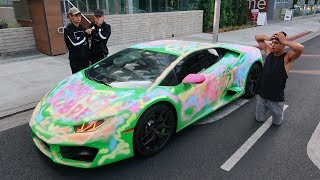 WE CAN'T BELIEVE WE DID THIS TO HIS LAMBORGHINI..