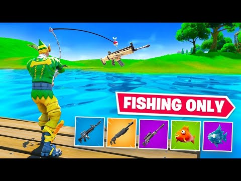 Using ONLY Fishing Loot to WIN Fortnite 2