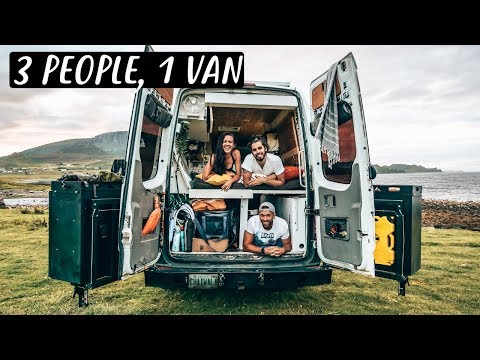 3 PEOPLE LIVING IN A VAN Van Life in Scotland 🏴