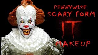 PENNYWISE (Scary Form/Projector Scene) Makeup - IT Movie 2017