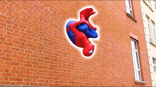 🕷️SPIDERMAN FIGHTS CRIME🕷️ Parkour, Flips & Kicks