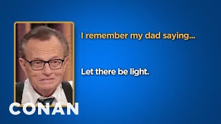 Celebrity Survey: Larry King, Ivanka Trump Edition  - CONAN on TBS