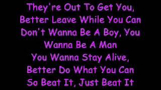 Michael Jackson-Beat It (Lyrics)