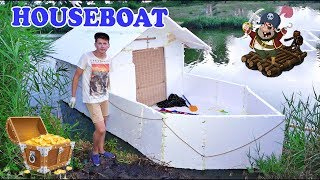 House - boat from Styrofoam - DIY