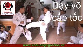 Dạy võ cấp tốc Võ Đường Ngọc Hòa buổi 1 karatedo Viet Nam