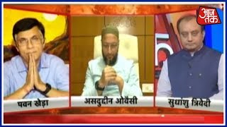 क्या आतंकवाद का कोई रंग भी होता है? | टक्कर | Asaduddin Owaisi Vs Sudhanshu Trivedi Vs Pawan Khera