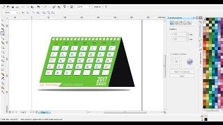Cara Membuat Kalender Meja Dengan CorelDRAW | Belajar CorelDRAW