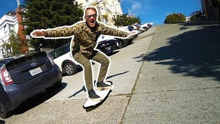 SURFING the STEEPEST STREET EVER - San Francisco