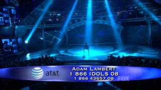 [HD] Adam Lambert - Mad World - American Idol season 8 - Top 8