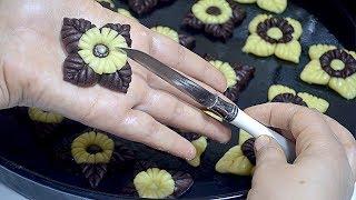 حلوى بدون طابع و بدون زبدة اقتصادية جدا النتيجة رووعة شكلا هشة تذوب في الفم