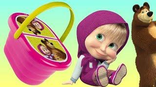 Masha and the Bear PICNIC Basket Play-doh ToySet Маша и Медведь Сюрприз игрушки TROLLS Surprise TUYC