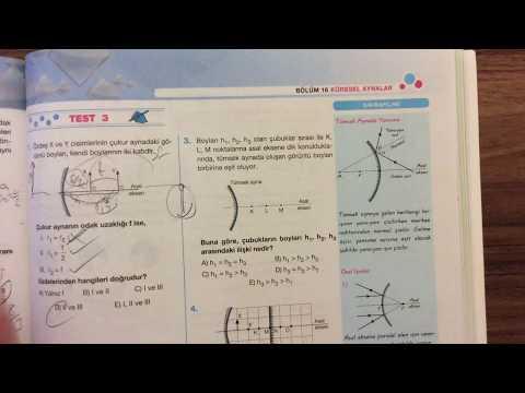 Palme Fizik - Optik - Küresel Aynalar - Test 3