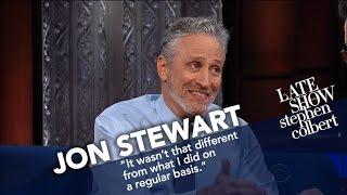 Jon Stewart Ribs Stephen For His Recent Language