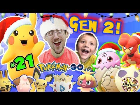 CHRISTMAS POKEMON GO 🎅 FGTEEV Gen 2 Eggs Hatching Surprise Elekid Pichu Togepi Magby 🎄 21