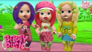 "Play Doh ""Baby Alive"" Strawberry Shortcake, Cherry Jam, Lemon Meringue"