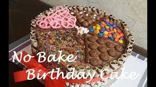 No BAKE Birthday cake with No melt Chocolate Frosting   How to make Birthday Cake  