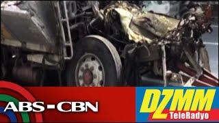 DZMM TeleRadyo: Trak sumalpok sa sinusundang trak; 1 patay, 1 kritikal