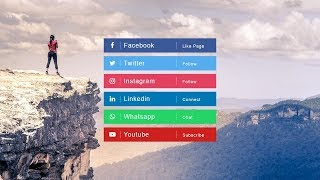 How To Make Soial Media Buttons In HTML And CSS | Social Media Icons Design