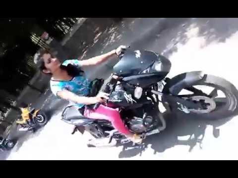 Girl Riding a PULSAR Hyderabad