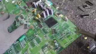 Removing IC Chips, Flat Packs, Gold Pins off circuit boards for gold recovery