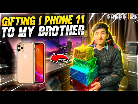 Gifting I Phone 11 To My Real Brother 😍 And I Pranked Him Free Fire 😂 Garena Free Fire