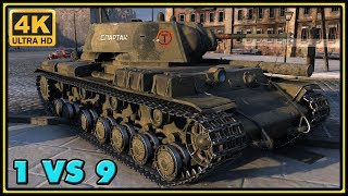 KV-220-2 Beta Test - 13 Kills - 3,1K Damage - 1 VS 9 - World of Tanks Gameplay