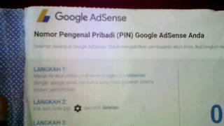 Cara Request Pin Google Adsense ( Google Adsense Pin Not Received ) Bukti Surat Adsense