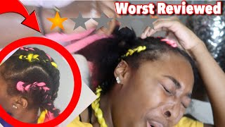 I WENT TO THE WORST REVIEWED BRAIDER IN MY CITY/ ATLANTA