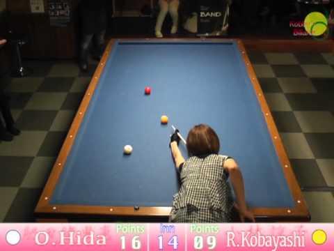 Orie Hida VS Ryouko Kobayashi 3cushion exhibition match
