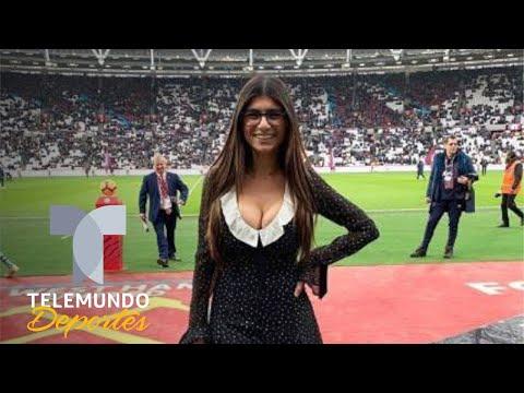 Xxx Mp4 Mia Khalifa Causa Un Revuelo En El West Ham Vs Arsenal Telemundo Deportes 3gp Sex