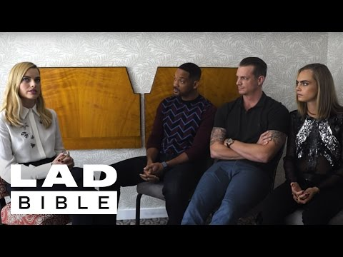 Will Smith Margot Robbie and Cara Delevingne Suicide Squad Tell Truths and Lies