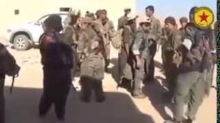 YPG KAÇMAKTA OLAN İŞİD İ ARAZİ DE KISTIRDI CANLI ÇATIŞMA SAVAŞ (YENİ)