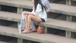 Girl Cambodia Testing best camera zoom full HD with canon sx540 sh