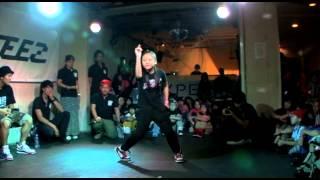 DANCE@KIDS 2013 Tohoku vol.02【QUATERFINAL】 ミサキ vs AIKA