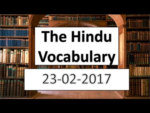 Xxx Mp4 The HINDU Vocabulary 23 2 2017 Learn English Words With Meaning In HINDI 3gp Sex