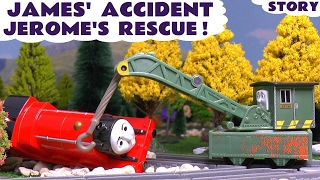 Thomas and Friends Toy Trains James Accident with a Ryan and Jerome Rescue Episode by ToyTrains4u