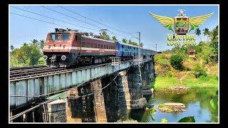 WAP 4 led AHILYANAGARI EXPRESS on a BRIDGE !! Indian Railways