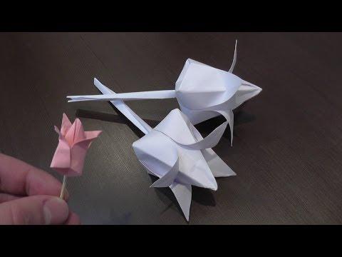 Видео объемное оригами из бумаги