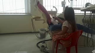 ▶️NINA🐇🐇 duke pastruar dhëmbët e lepuroshit🐇🐇🐇 te Klinika Dentare Dent-In 😘