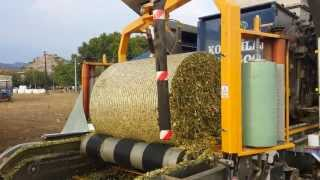 High UV Silage wrap - wrapping maize bale in Turkey
