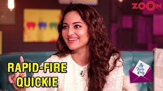 Sonakshi Sinha answers rapid-fire questions in the segment Quickie | By Invite Only
