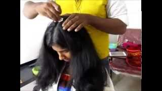 Scalp Massage With Olive Oil