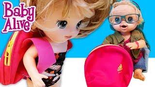 Baby Alive Lily ve Blonde Makyaj Çantasından Sırt Çantası Yaptım | Nasıl Yapılır | Oyuncak Butiğim