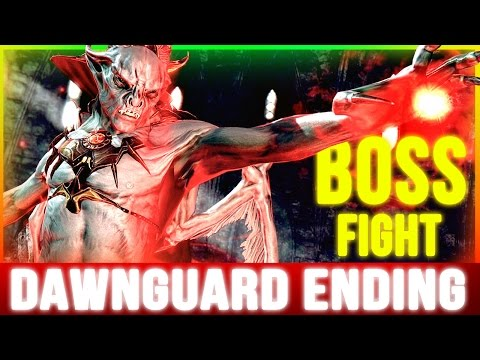 Skyrim Dawnguard ENDING (Final 2 BOSS Battles Walkthrough Part 4)