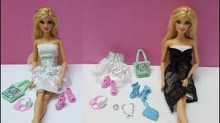 ألعاب تلبيس بنات , مساعدة باربي في اختيار حذاء مناسب للفستان الجديد , اكسسوارات باربي