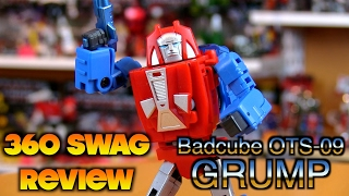 360 Swag Review: Badcube OTS-09 Grump - 3rd Party Transformers Masterpiece Gears Unboxing