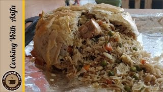Parda Pulao Recipe, How to make Arabian Ouzi Rice by Cooking with Asifa