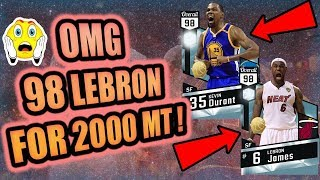 OMG 98 OVERALL LEBRON FOR 2000 MT! NBA 2K17 Top 5 Fails of the Week